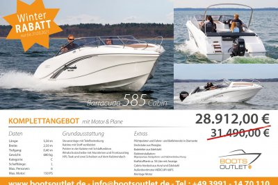 Okiboats Barracuda 585 Cabin + 60PS